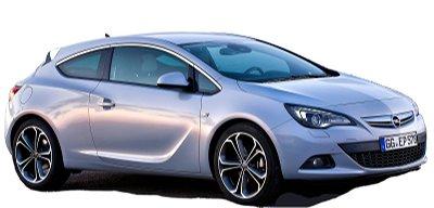 Présentation de l'<b>Opel Astra GTC</b> de 2012.